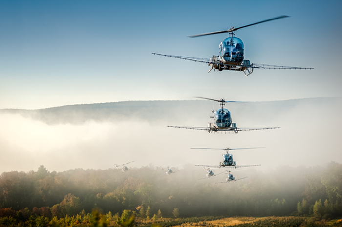Thirteen percent of the aerial application industry's flleet is comprised of rotorcraft.